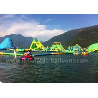 Wholesale Green Color Giant Inflatable Water Parks With Tower / Slide Customized Sizes from china suppliers
