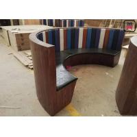 China 1/2 Circle Wood Chigh Back Restaurant Booths , Custom Made 3/4 Circular Booth Seating on sale