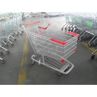 Wholesale 210 Litre Grocery Shopping trolley cart With amercian handle and 5 inch casters from china suppliers