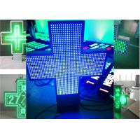 Wholesale 110V - 240V LED Cross Sign , Pharmacy Led Sign Double Sides 1R1G1B from china suppliers