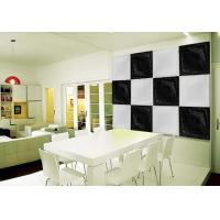 Buy cheap Black & White Square PU 3D Decorative Wall Panel 500mm * 500mm from wholesalers