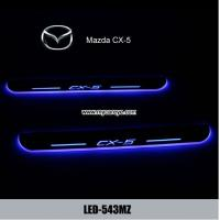 Wholesale Mazda CX-5 car side step sill door moving scuff plate LED Lights for sale from china suppliers