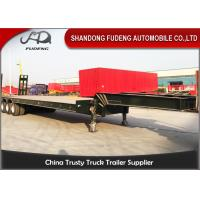 Wholesale Four Axle 100 Ton Lowboy Semi Trailer Construction Equipment Carrier from china suppliers