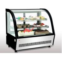 Wholesale Small Curved Glass Refrigerated Bakery Display Case Countertop Mirrors / Steel Base from china suppliers