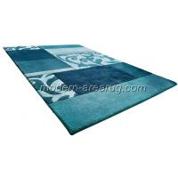 Wholesale Modern Area Rugs, Contemporary Carpet, Blue Orange Chocolate Acrylic Hand-tufted Rug from china suppliers