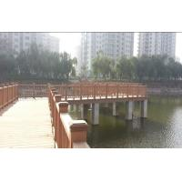 Wholesale Exterior WPC Fence Panels for Lawn and Park , Brown Composite Decking from china suppliers