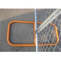 """Wholesale 6'x10' chain link temporary fence 1⅝""""(42mm) HDG pipes x 16ga wall thick spacing 63mm x 63mm x 2.4mm diameter from china suppliers"""