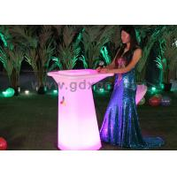 Wholesale Outdoor Furniture Event furniture Led Lighted Table Starlish Brand Table with flower pot or ice bucket from china suppliers