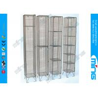 Quality Single Heavy Duty Wire Display Stands Mesh Lockers For Drying Wet Clothing for sale