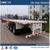 Wholesale tri-axle 20ft 40ft semi flat bed truck trailer with container lock from china suppliers