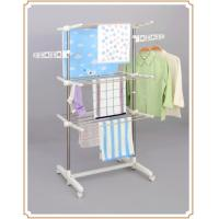 Wholesale Movable Three-tier Standing Towel Rack , Folding Indoor Laundry Drying Rack from china suppliers