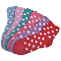 Wholesale Polka dot pattern Polyester plush socks with aloe infused , spa socks from china suppliers