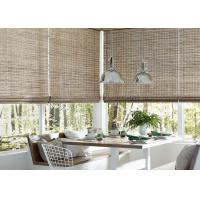 China Straw Material Manual Roller Blind Interior Decoration For Bedroom / Living Room on sale
