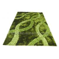 Wholesale Modern Green / Brown / Black Polyester Patterned Shaggy Rugs, Living Room Area Rug from china suppliers