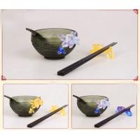 Wholesale Handblown glass bowls / glass dishes / Handblown glass paltes DJ-12004 from china suppliers