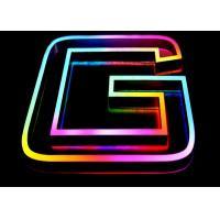 Wholesale RGB Colors Acrylic Neon LED Custom Neon Light Signs Front Lit For Decorating from china suppliers