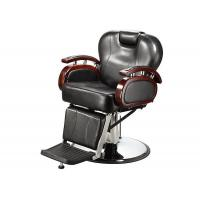 Wholesale Reclining Backrest Salon Barber Chair Brown With PU Leather Materials 48.5 KGs from china suppliers