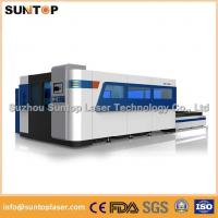Wholesale 2000W Fiber Laser Cutting machine with exchanger working table , laser protection cabinet from china suppliers