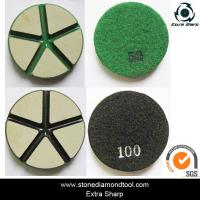 "Quality 3"" 80mm Ceramic Resin Bond Diamond Grinding Disc Stone Floor Polishing Pads for sale"