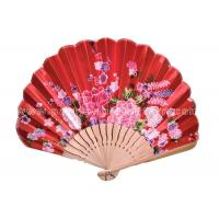 Wholesale Foldable Lovely Japanese Hand Held Fans , personalized red paper fans from china suppliers