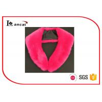 Wholesale Rose Red Faux Fur Scarf With Satin Lining And Hook , Ladies Faux Fur Collar Scarf from china suppliers