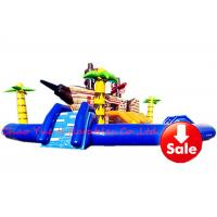 Quality 15m PVC Pirate Ship Theme Inflatable Water Park Kids Blow Up Water Park With Pool for sale