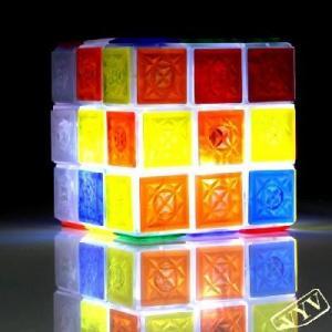 Wholesale Glaring LED Light Novel Brain Teaser Magic Rubik Rubik's Cube IQ Puzzle Toy from china suppliers