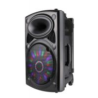Wholesale Professional Disco Light Bluetooth Speaker With Trolley And Wheels , Battery Powered from china suppliers