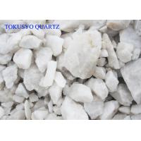 Wholesale 98% Min Silicon Content White Quartz Ore / Quartz Lump For Galass from china suppliers
