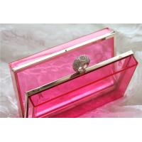 Wholesale Red Party acrylic makeup storage boxes / perspex boxes Eco-Friendly from china suppliers