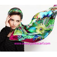 China Women's Fashion Customized Digital Printed Silk Scarf, 100% silk satin scarf on sale