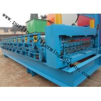 Wholesale High Efficiency Double Layer Cold Roll Forming Machine for Roofing Tile / Wall Panel from china suppliers