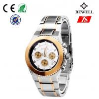 Wholesale Bewell Japan Movt Quartz Watch / Stainless Steel Wrist Watches For Men from china suppliers