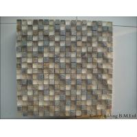 Wholesale Glossy Strip Crystal Stone Glass Mosaic Tile , Rectangle Home Wall Tile from china suppliers