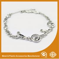 Wholesale Environmental Zinc Alloy Silver Chain Bracelet Two Colors Plating 15mm from china suppliers