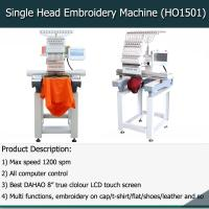 Buy cheap Single head 15 needles high speed computer embroidery machine like tajima embroidery machine from wholesalers