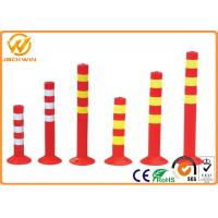 Wholesale Flexible PVC Traffic Delineator Post for Station / Road Safe / Pavement 45cm 75cm Height from china suppliers