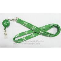 Wholesale Tube polyester badge lanyard with retractable pull reel, badge reel tubular neck straps, from china suppliers
