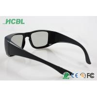 Quality Women Circular Polarized 3D Glasses , customized 3d passive glasses black frame for sale