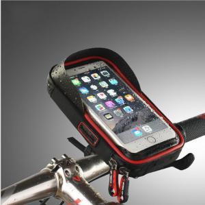 Quality 360 Rotating Waterproof Bicycle Bags Bike Mobile Phone Bag, Universal 6.0 Inch waterproof Bike Phone Holder Case for sale