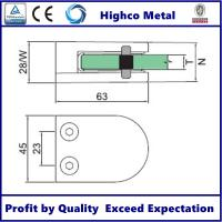 Stainless Steel Middle D Shape Round Glass Clamp 63x45mm Fit 10.76-12.76mm Glass for Glass Railing and Balustrade