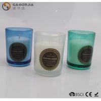 Wholesale Smokeless Color Spraying Glass Cup Paraffin Wax Candle No Harmful from china suppliers
