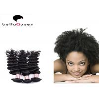 Wholesale Natural Black Curly Wave Mongolian Hair Extensions / Grade 6A Virgin Hair from china suppliers