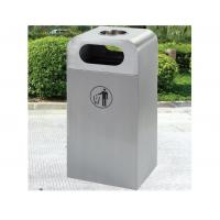 Wholesale Welded Round Metal Trash Bin Stainless Steel , outdoor trash cans from china suppliers