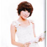Synthetic Girl Short Curly Real Looking Asian Hair Wigs