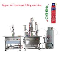 Wholesale Aerosol Spray Bag On Valve Filling Machine 600-1000cans/hour Max 250ml from china suppliers
