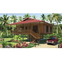 Wholesale Light Steel Frame Wooden Home Beach Bungalows With Shower , Kitchen from china suppliers