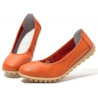 Wholesale Low Heeled Leather Comfortable Casual Shoes Flat Gum Rubber Outsole Womens Shoes from china suppliers