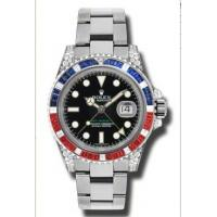 Wholesale Rolex GMT Master II Black Automatic 18kt White Gold Oyster Mens Watch 116759BKSARU from china suppliers