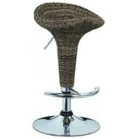 Wholesale Contemporary French Bistro Bar Stools Rattan Bar Chairs 385 * 1.2mm Base from china suppliers